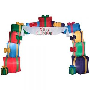 Inflatable Christmas Presents Lighted Outdoor Archway