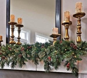 battery operated christmas garland - Battery Powered Christmas Decorations