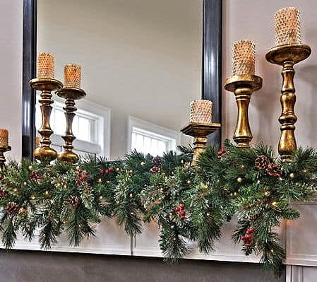 Decorating A Fireplace For Christmas Without A Mantle With Garland