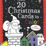 20 Christmas Cards to Color