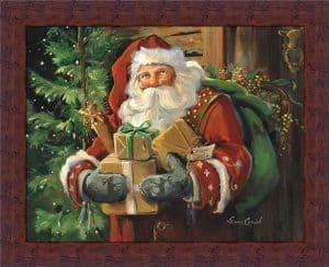 santa framed picture