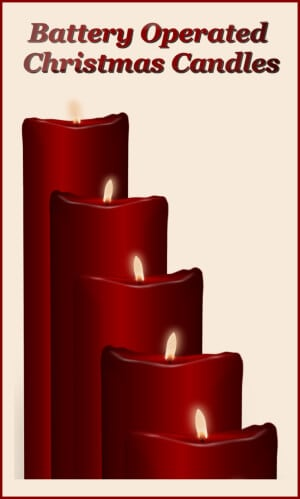 battery operated christmas candles - Battery Operated Christmas Candles
