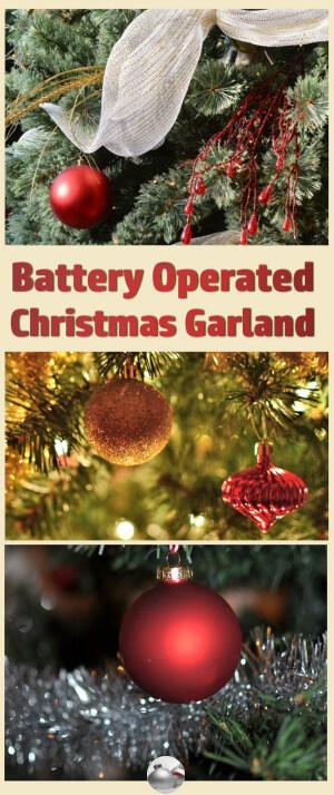 battery operated christmas garland christmas decorating fun - Battery Lighted Christmas Decorations