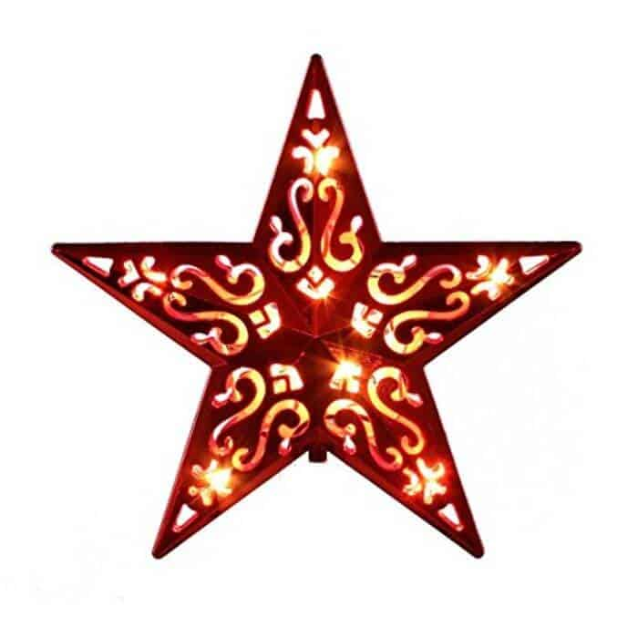 Lighted Christmas Star Tree Toppers Christmas Decorating Fun