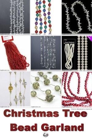 christmas tree bead garland - Christmas Beaded Garland Decorations