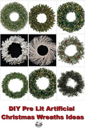 diy pre lit artificial christmas wreaths ideas - Artificial Christmas Wreaths Decorated