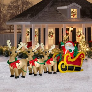decorating your yard with christmas outdoor inflatables christmas decorating fun - Outdoor Lighted Christmas Decorations