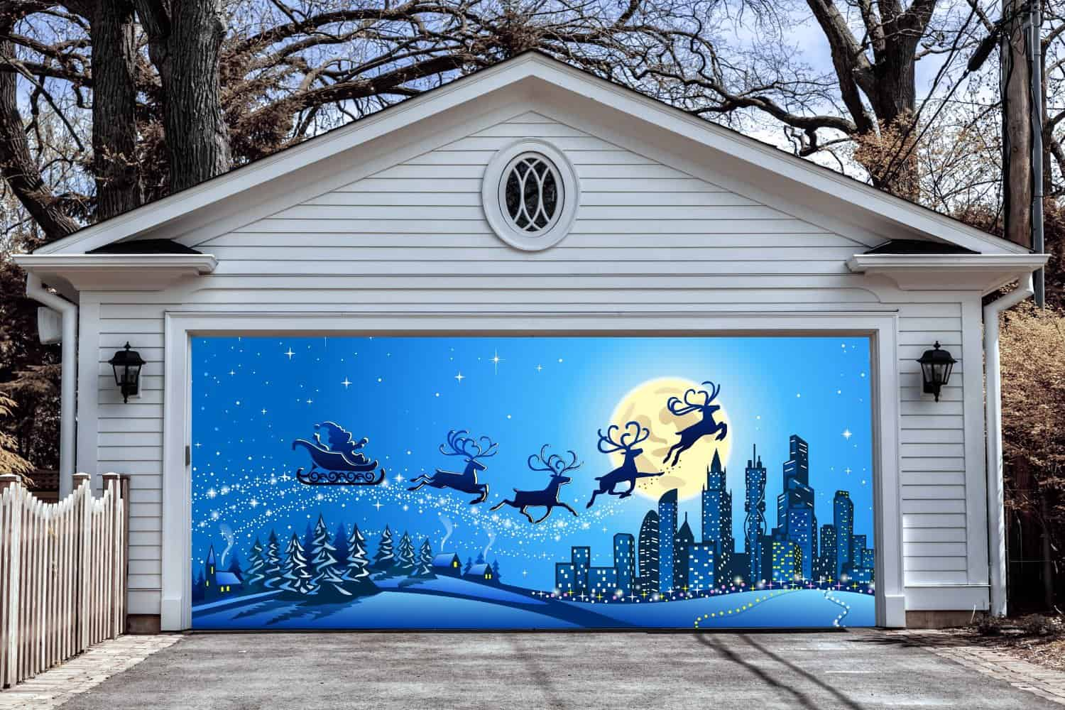 Garage Door Christmas Decorations Christmas Decorating Fun