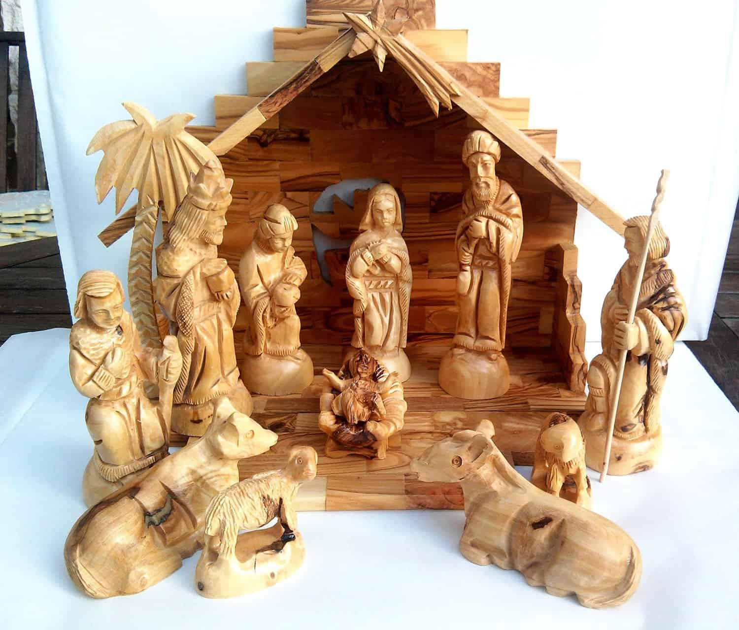 Olive Wood Nativity Set Christmas Decorating Fun