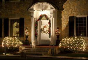 outside Christmas garland