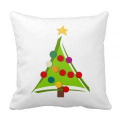 Christmas tree throw pillows
