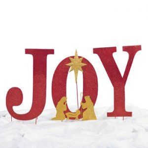 Joy Outdoor Christmas Decorations