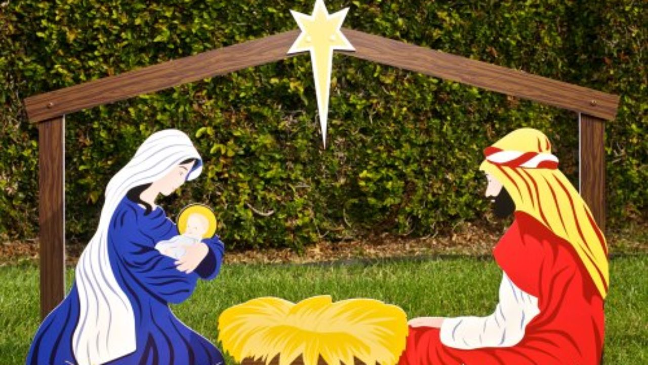 Nativity Outdoor Christmas Decorations.Outdoor Nativity Sets Christmas Decorating Fun