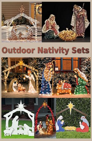 outdoor nativity scenes httpamznto2svddzc - Nativity Outdoor Christmas Decorations